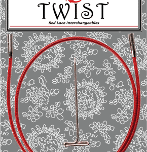 Twist Red Cable Large 8″