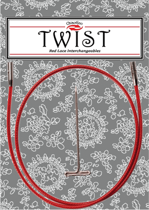 """Twist Red Cable Large 30"""" 1"""