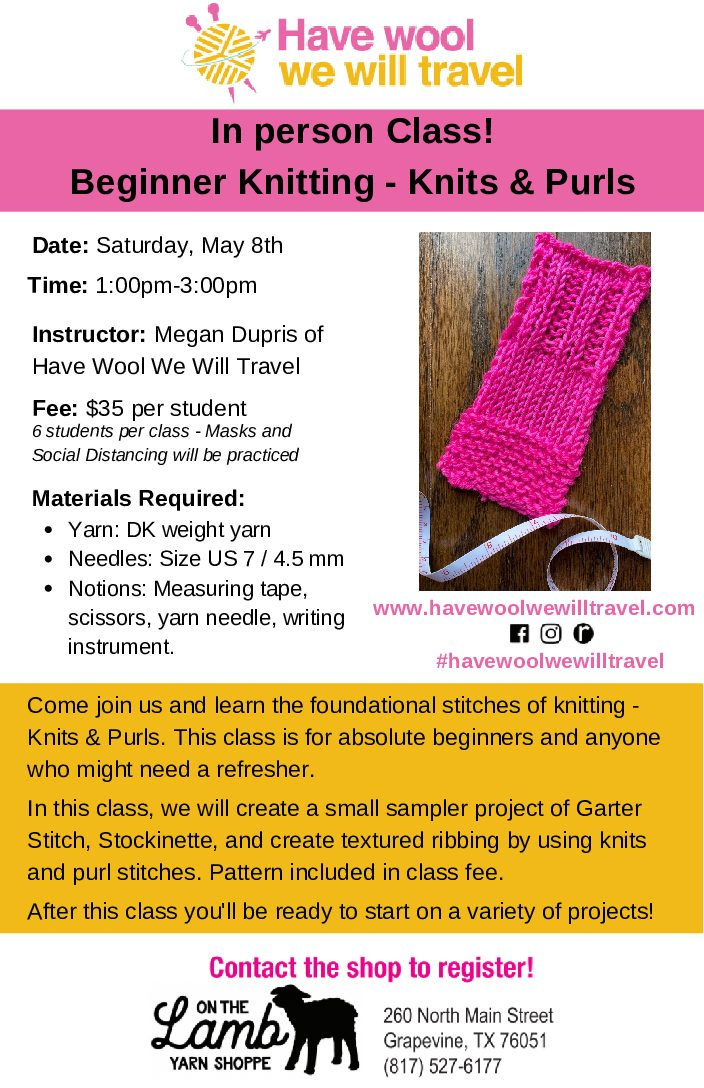 Beginner Knitting Knits & Purls