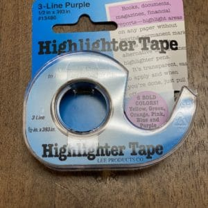 Purple Highlighter Tape