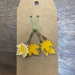 Yellow Leaf Stitch Marker