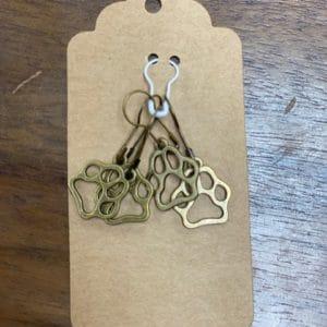 Bronze Dog Paw Stitch Marker