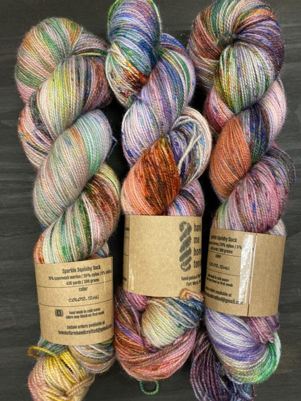 HMHT3 Color Run Sparkly Sock 1