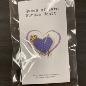 Purple Heart Crochet Pin