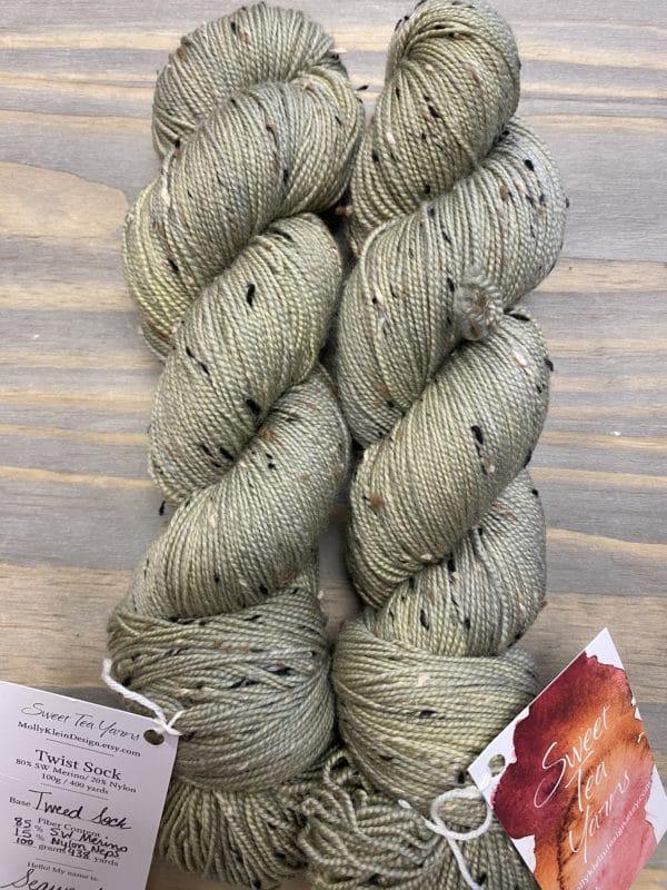 Tweed Sock Seaweed 1