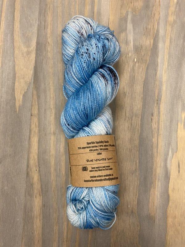 Blue Leisure Suit Sparkle Sock 1
