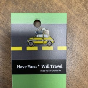Have Yarn Will Travel Car Pin