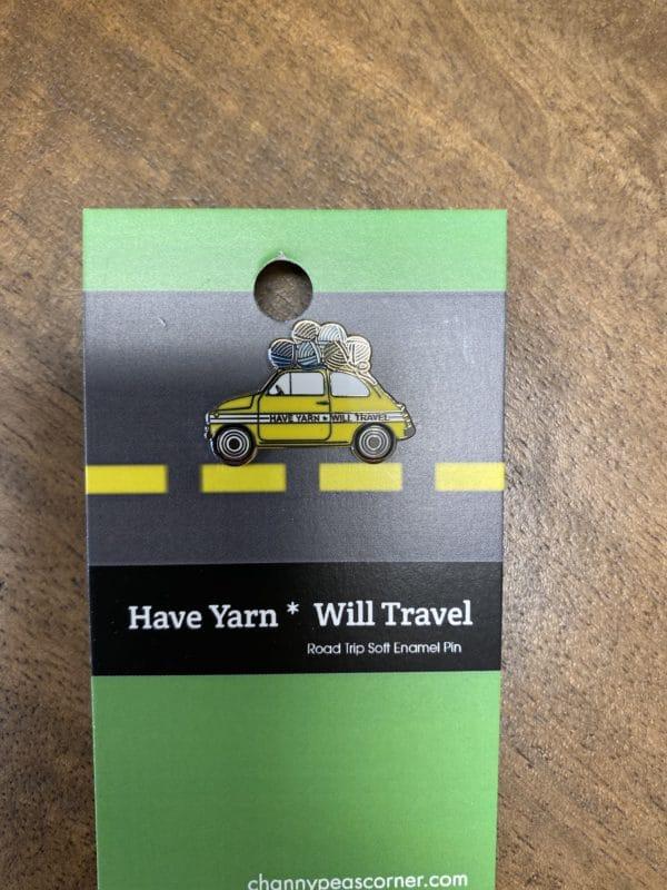 Have Yarn Will Travel Car Pin 1