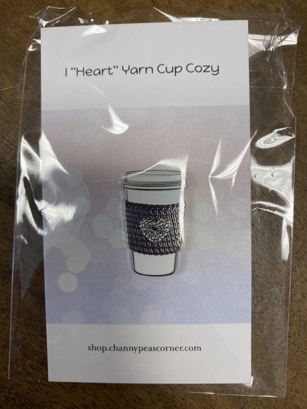I Heart Yarn Purple Pin 1
