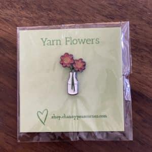 Yarn Flowers Enamel Pin