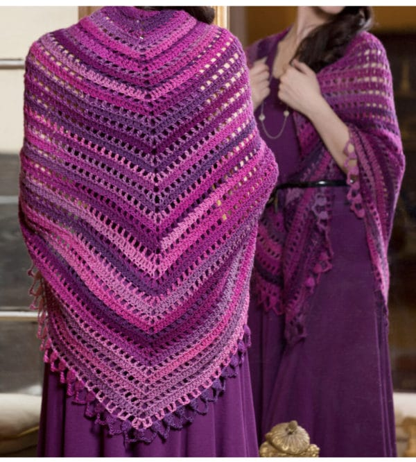 Triangle Shawl Crochet Class 1