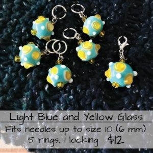 Stitch Marker Lt Blue/Yellow 6m