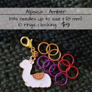 Alpaca & Amber Stitch Markers