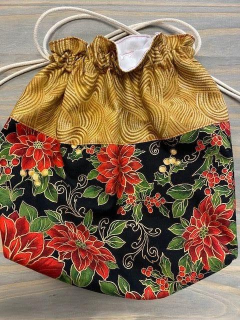 Gold/Black Poinsetta Bag 1