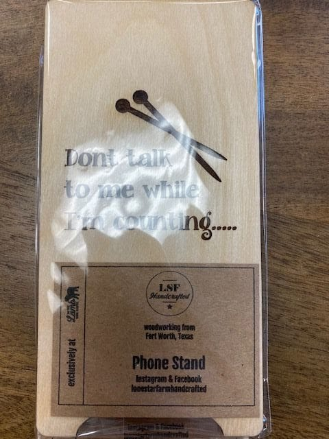 Phone Holder Don't talk to me while I'm Counting (knit) 1
