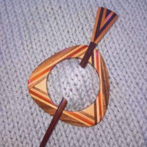 Geometric Shawl Pin