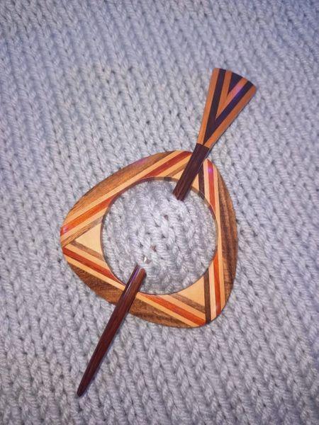 Geometric Shawl Pin 1