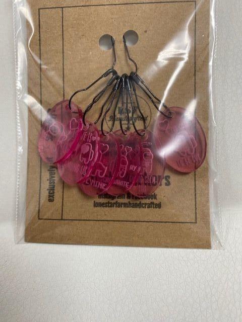 Among Us Stitch Markers Pink 1