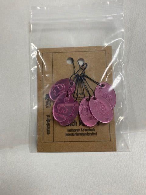 Among Us Stitch Marker Pink Mirror 1