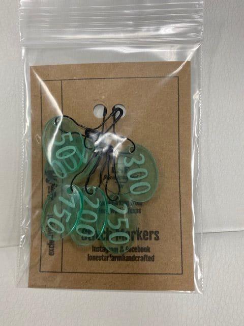 50-300 Stitch Marker Lt Green 1