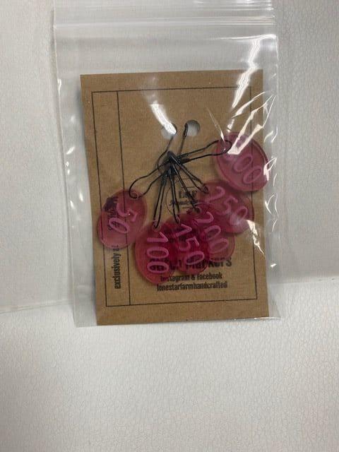 50-300 Stitch Marker Pink 1