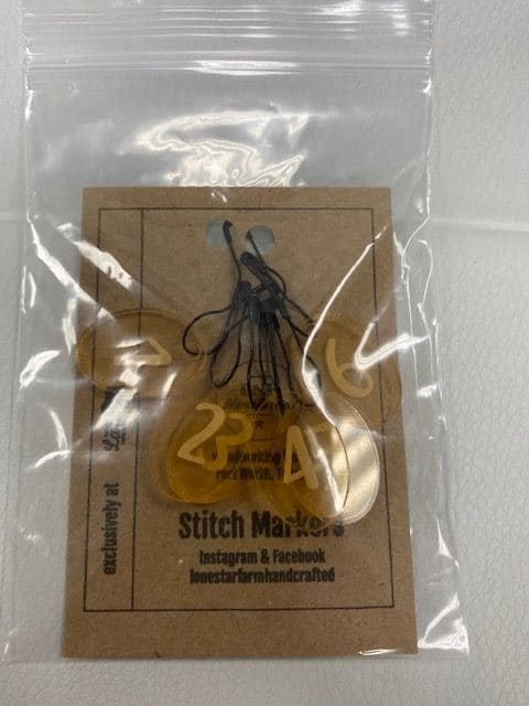 1-5 Stitch Marker Gold 1