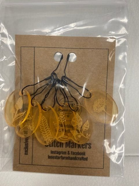 Floral Stitch Marker Gold 1