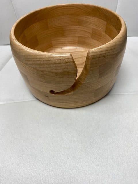Yarn Bowl Large American Cherry 1