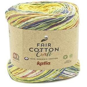 Fair Cotton Blue, Yellow, Red