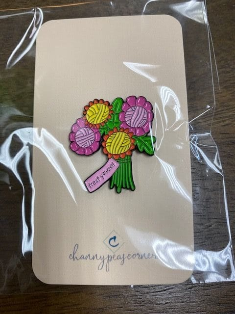 Yarn Bouquet Enamel Pin 1