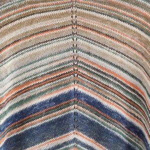 Cotton Cashmere Blue, Orange, Taupe