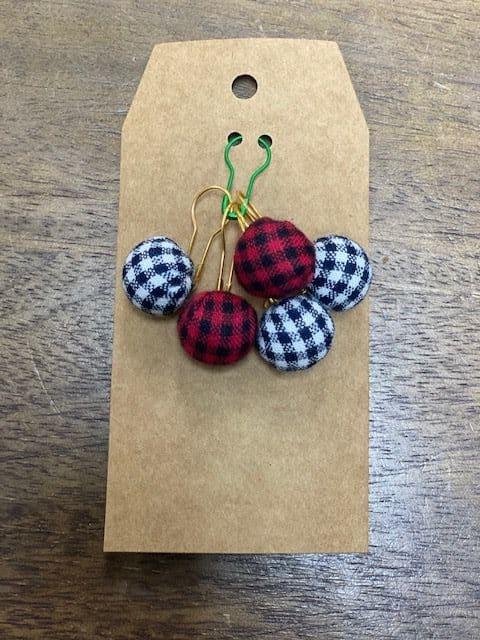 Plaid Pumpkin Stitch Markers 1