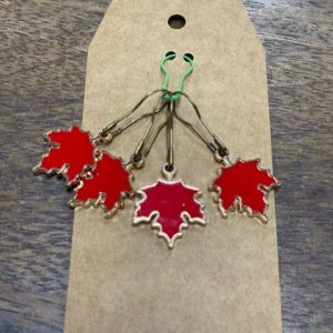 Red Leaf Stitch Marker