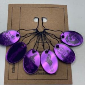 Purple Beetlejuice StitchMarker