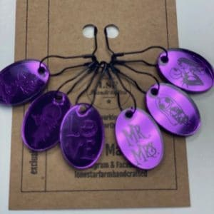 Purple NBC Stitch Markers