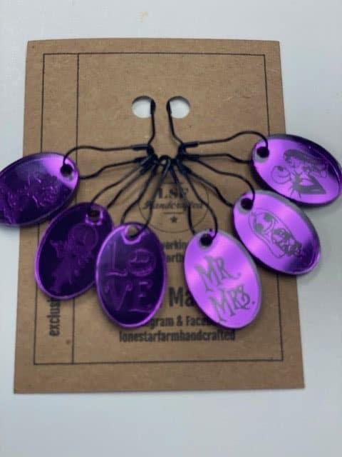 Purple NBC Stitch Markers 1