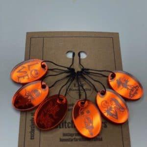 Orange NBC Stitch Markers