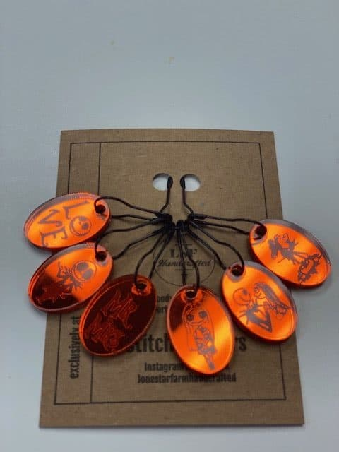 Orange NBC Stitch Markers 1