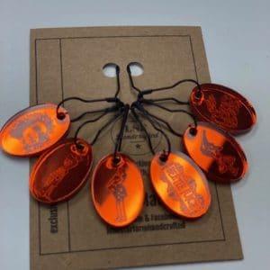 Orange Beetlejuice StitchMarker