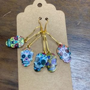 Sugar Skull Bead Stitch Markers
